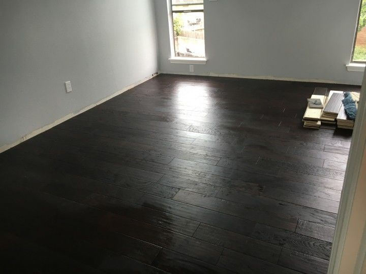 Wood floor installation. Cinco Ranch TX