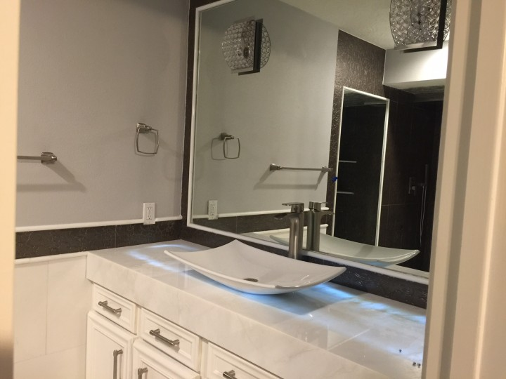 bathroom remodel/painting