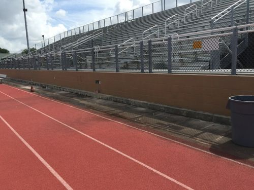 Stadium painting in Houston TX Strake Jesiut School
