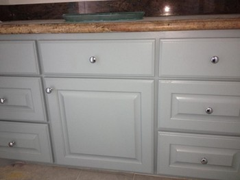 Cabinet Painting, Granite & Sink Installation in Houston, TX