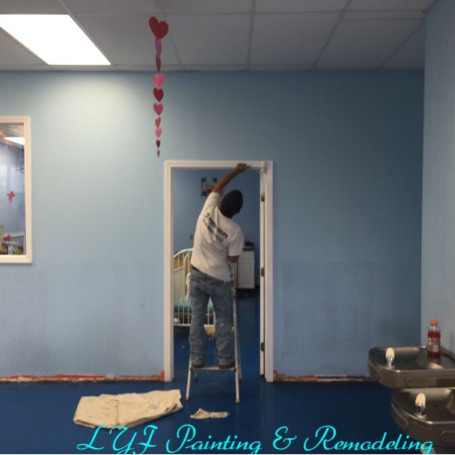 Office painting & Baseboard installation in Houston, TX