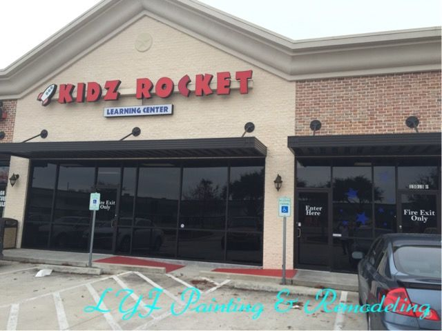 Indoor painting & Wall repairs at Kidz Rocket in Houston, TX