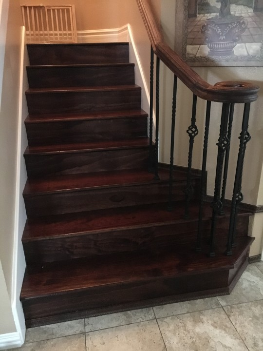 Stair installation and wood staining in Katy Tx