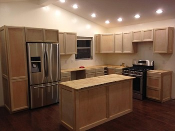 New Kitchen Cabinet Construction and Lighting Installation Pearland, TX