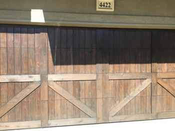 Antique Garage Door Painting Houston, TX