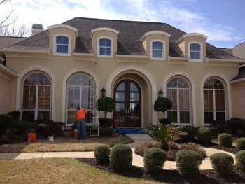 Exterior painting in Alvin, TX.